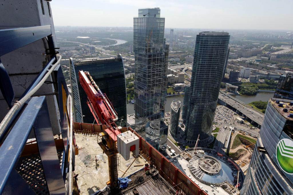 Москва-Сити распределительная стрела